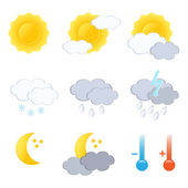 Weather forecast icon set. Vector-Illustration. — Stock Vector