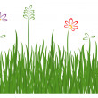 Royalty-Free Stock Vector Image: Grass on white background. Vector-Illustration