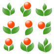 Stock Vector: Set of plant icons. Vector-Illustration