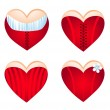 Royalty-Free Stock Vector Image: Corseted heart, icon set. Vector-Illustration
