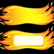 Banner of burning fire flame. Vector-Illustration — Stock Vector
