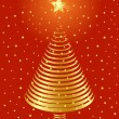 Golden Christmas tree design. Vector-Illustration. — Stock Vector