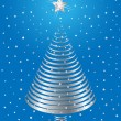 Silver Christmas tree design. Vector-Illustration. — Stock Vector