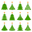 Stock Vector: Set of christmas trees. Vector-Illustration.