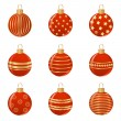Set of Christmas balls. Vector-Illustration — Stock Vector