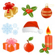 Christmas set of different stuff. Vector-Illustration. — Stock Vector