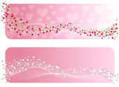 The Valentine's banner. Vector-Illustration — Vetor de Stock