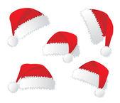 Santa red hat. Vector illustration — Stock Vector