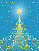 Golden Christmas tree design. Vector-Illustration. — Stock Vector