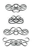Satz von abstrakten ornament im vintage-stil. vektor-illustration — Stockvektor