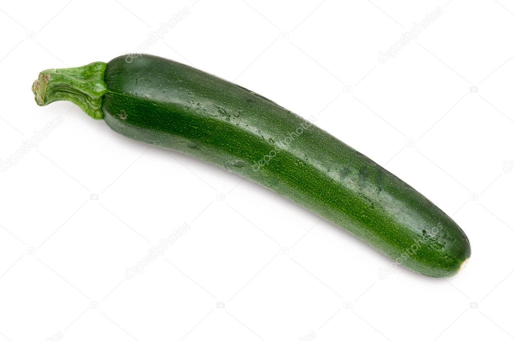 Fresh green courgette over a white background — Stock Photo #11959313