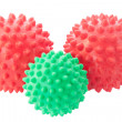The green and red spheres with spikes. — Stock Photo #11978595