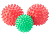 The green and red spheres with spikes. — Stock Photo