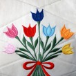 Flower embroidery - Stock Photo