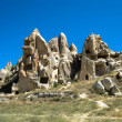 Cave dwellings in Cappadoccia — Stock Photo