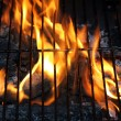 Stock Photo: Fire BBQ