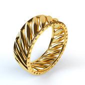 Wedding gold ring isolated on white background — Photo