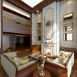 Modern Luxury Interior in the winter — Foto de Stock
