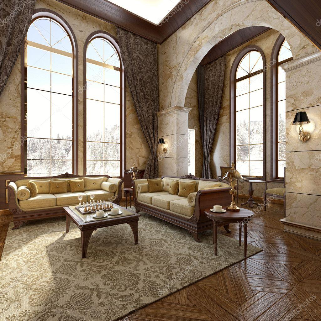 Interni di lusso moderno in inverno foto stock el for Interni di lusso