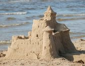 Castle on sand — Stock Photo