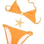 Orange Bikini and Star Fish — Stock Photo