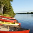 Canoes and Kayaks — Stock Photo