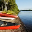 Stock Photo: Canoes and Kayaks