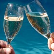 Stock Photo: Two Glasses of Sparkling Wine