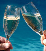 Two Glasses of Sparkling Wine — Stock Photo