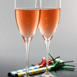 Pink Champagne - Stock Photo