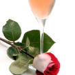 Pink Champagne and Rose — Stock Photo #11890284