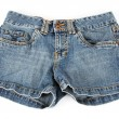 Stock Photo: Denim shorts