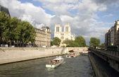 Sightseeing of Paris or Seine drifting — Stock Photo