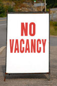 No Vacancy Sign — Stock Photo