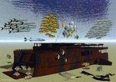 Naufragio del crucero, phuket tailandia del rey — Foto de Stock