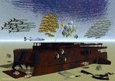 国王的巡洋舰的残骸,泰国普吉岛 — 图库照片