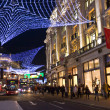 London's Regent Street decorated with Christmas lights — Stock Photo #11828066