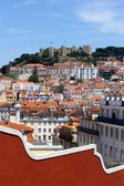 Castle Hill, Lisbon, Portugal — Stock Photo