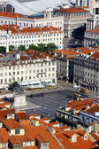 Figueira and Rossio Squares, LIsbon, Portugal — Stock Photo