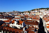 The downtown and the Castle Hill, Lisbon, Portugal — Stock Photo
