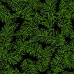 Retro-Stil Vektor nahtlose Muster, Stoff, Tapete, Verpackung und Hintergrund mit Zweigen der Palmen ornament - Sommer und Frühling Theme für Dekoration und design — Stockvektor