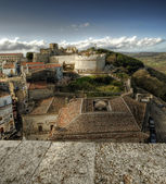 Monte Sant'Angelo, the castle.Italy. — Stock Photo