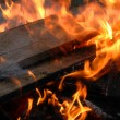 Fire on wood — Stock Photo