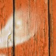 Peeling paint on old wood background — Stock Photo
