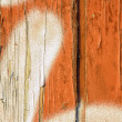 Stock Photo: Peeling paint on old wood background