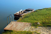 Boats at lake — Stock Photo