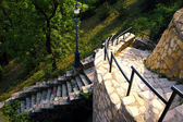 Stone staircase on park — Stockfoto
