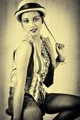 Menina marrom — Foto Stock