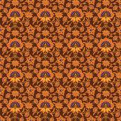 Patrón de papel tapiz marrón en estilo vintage — Vector de stock