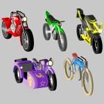 Motorcycles vector — Stock Vector
